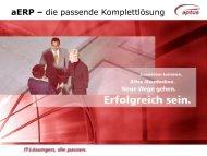 aERP – die passende Komplettlösung - aptus IT GmbH