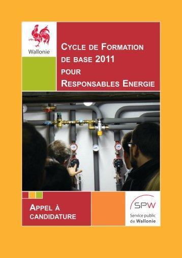 cycle de formation de base pour responsables ... - Energie Wallonie