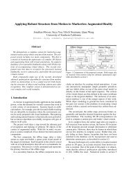 Applying Robust Structure from Motion to Markerless Augmented ...