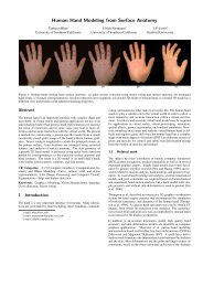 Human Hand Modeling from Surface Anatomy - University of ...