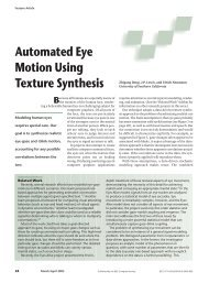 Automated Eye Motion Using Texture Synthesis - Computer ...