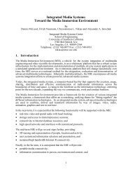 Integrated Media Systems: Toward the Media Immersion Environment