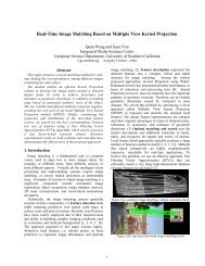 Real-Time Image Matching Based on Multiple View Kernel Projection