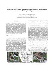 Integrating LiDAR, Aerial Image and Ground Images for