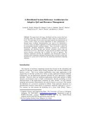 A Distributed System Reference Architecture for ... - CiteSeerX