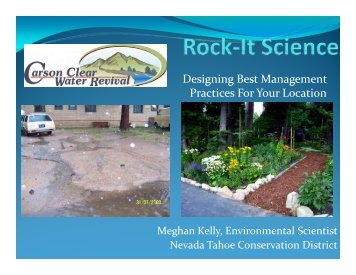 Rock-It Science: Designing Best Management Practices for Your ...