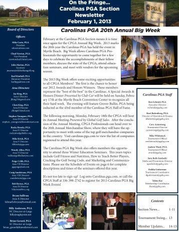 February 2013 - PGA Carolinas
