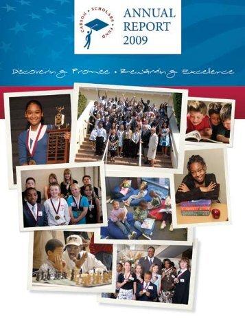 CSF Annual Report 2009 - Carson Scholars Fund