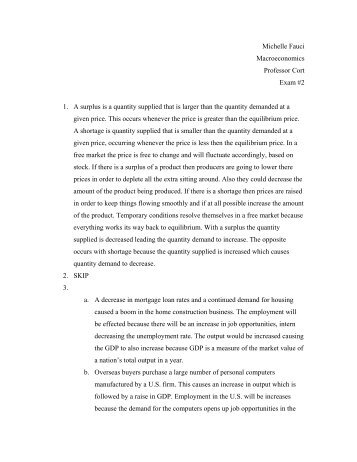 Macroeconomics Written Test - MyWeb at WIT