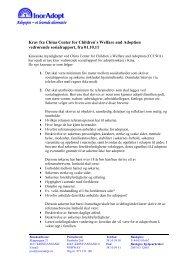 CCCWA`s krav til søkerne av 1.10.2011