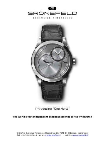"Introducing ""One Hertz"" - Watchuseek, World's Most Visited Watch ..."