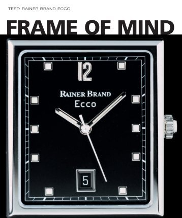 WT_2002_05: TEST: RAINER BRAND ECCO - Watchuseek, World's Most ...