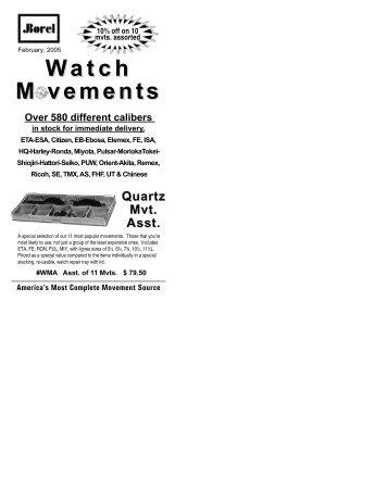Watch M vements - Watchuseek, World's Most Visited Watch Forum Site