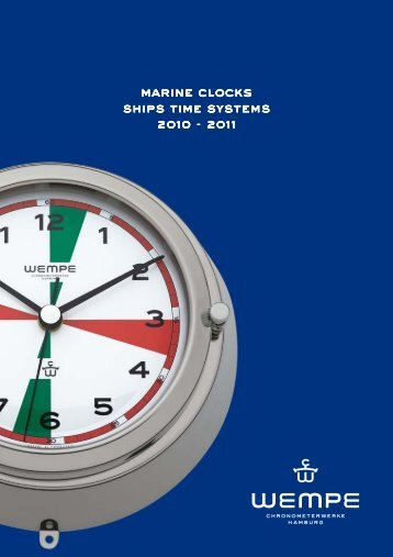 Catalogue WEMPE Marine clock - Ship's time systems 2010-2011 ...