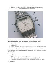 SETTING INSTRUCTIONS FOR SEIKO H556 & H558 MOVEMENT (by Roland ...