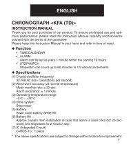 CHRONOGRAPH  ENGLISH - Orient