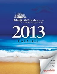 author index - Bible Truth Publishers