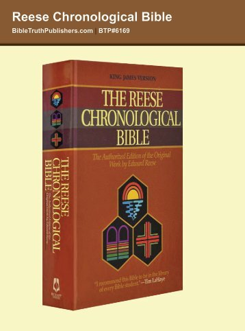 Reese Chronological Bible - Bible Truth Publishers