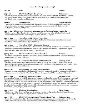 13th, 14th, 15th and 24th Amendments