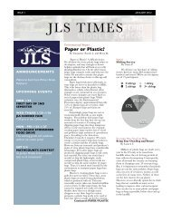 JLS Times Issue 1: January 2012 (pdf)