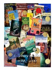 Newbery Awards 1922-2013 - Jane Lathrop Stanford Middle School
