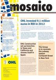 OHL invested 9.1 million euros in RDI in 2012