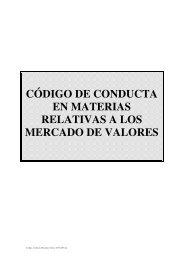 CÓDIGO DE CONDUCTA EN MATERIAS RELATIVAS A LOS ... - Ohl