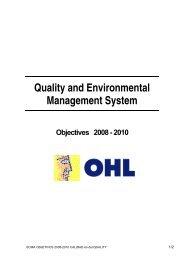 objectives 2008-2010 - Ohl