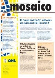 El Grupo invirtió 9,1 millones de euros en I+D+i en 2012 - Ohl