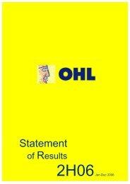 Statement - Ohl