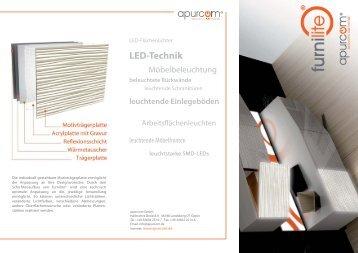 LED-Technik leuchtende Einlegeböden - Apurcom.de