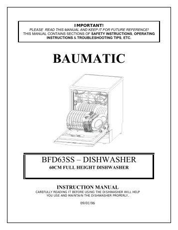samsung dishwasher instruction manual
