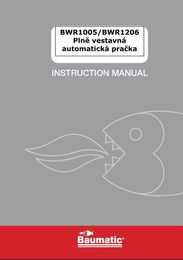 BWR1005/BWR1206 Plně vestavná automatická pračka - baumatic.cz