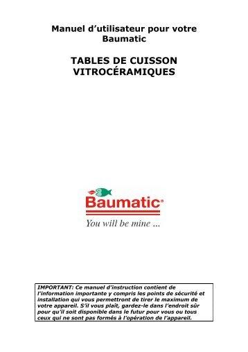 TABLES DE CUISSON VITROCÉRAMIQUES