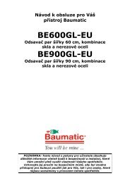 BE600GL-EU BE900GL-EU - baumatic.cz