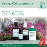 Umět o sebe pečovat a žít s čistě přírodními produkty - Bahnhof ...