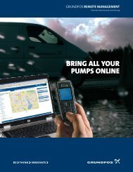 Bring all your pumps online - Grundfos