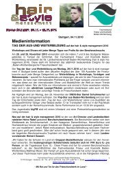 Tag der Aus - Fachverband Friseur und Kosmetik Baden-Württemberg