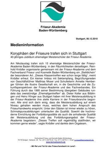 Meisterschüler der Friseur-Akademie - Fachverband Friseur und ...