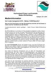 hair & style 2010 Nahezu 15.000 Besucher - Fachverband Friseur ...