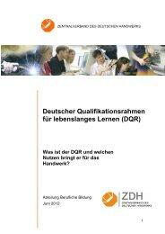 Deutscher Qualifikationsrahmen für lebenslanges Lernen (DQR)