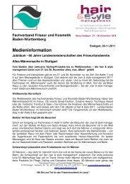 Medieninformation - Fachverband Friseur und Kosmetik Baden ...