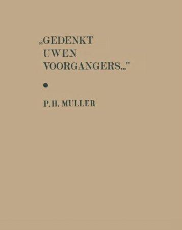 gedankt voorgangers... - digitale bibliotheek voor de Nederlandse ...
