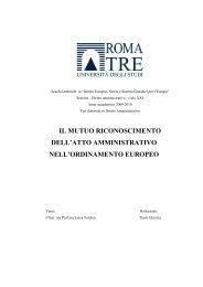 il mutuo riconoscimento dell'atto amministrativo nell'ordinamento ...