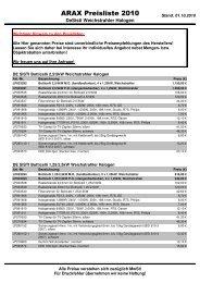 ARAX Preisliste 2010