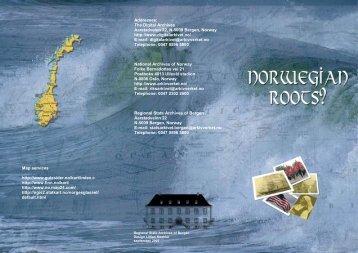 The Digital Archives - brochure (PDF) - Digitalarkivet