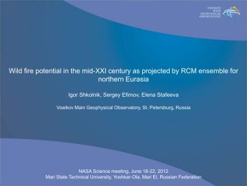 22. Igor Shkolnik - Wild fire potential in the mid-XXI century as ...