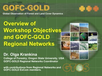 Overview of Workshop Objectives and GOFC-GOLD Regional ...