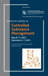 Controlled Substance Management - Case Western Reserve ...