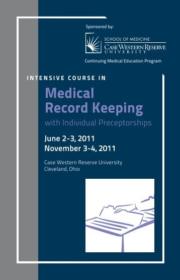 Medical Record Keeping - Case Western Reserve University School ...